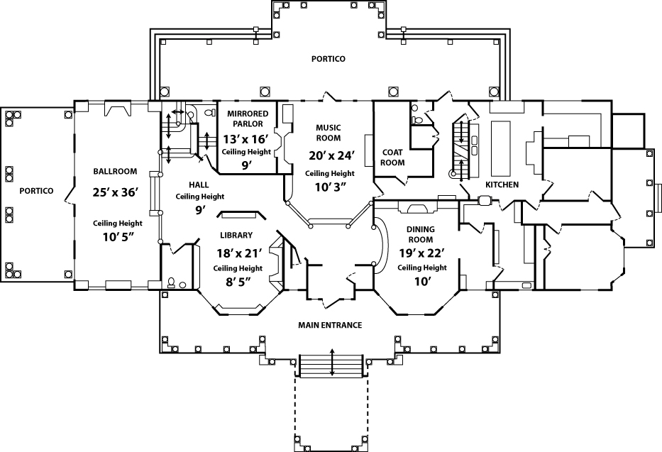 Floor plan the endicott estate for How to get floor plans of an existing building